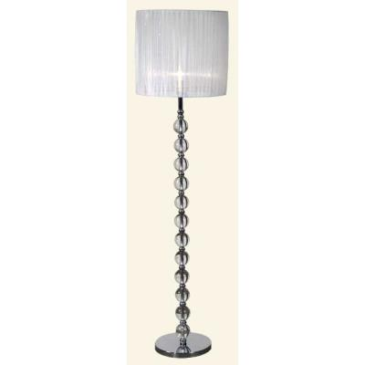 Crystal ball floor lamp with silver shade for Silver glitter floor lamp